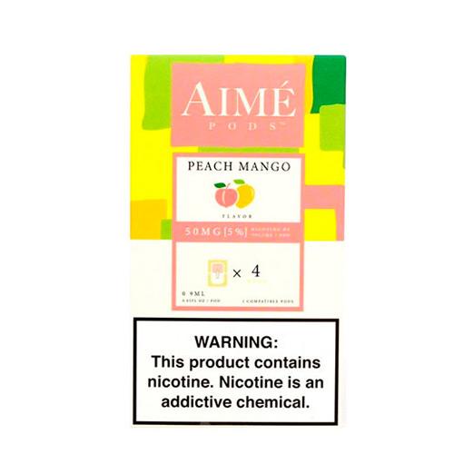 Картриджи Aime Pods Compatible with JUUL Peach Mango 4 шт Оригинал