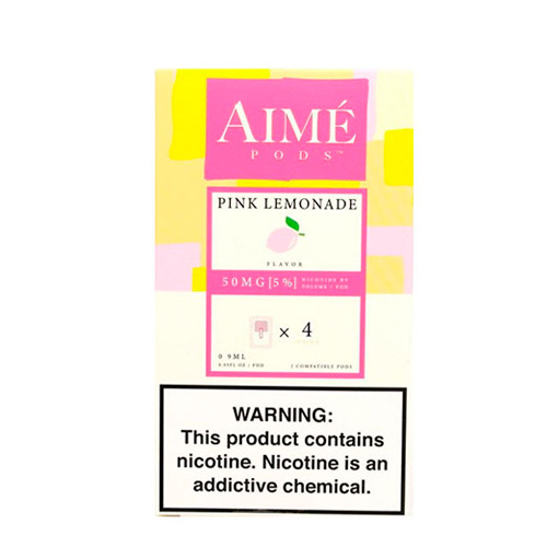 Картриджи Aime Pods Compatible with JUUL Pink Lemonade 4 шт Оригинал